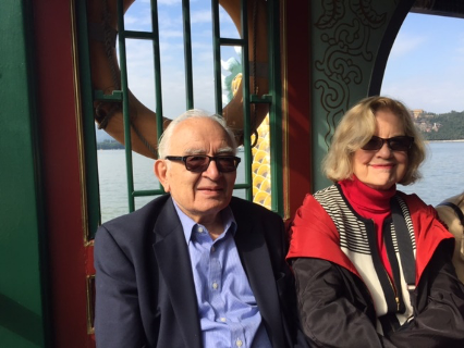 Tom and Rozann in China in 2016